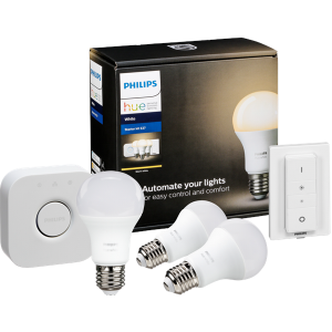 Philips HUE Kezdőcsomag E27 White A60 3 Darab + Switch